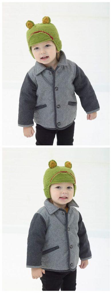Frog Hat Free Knitting Pattern