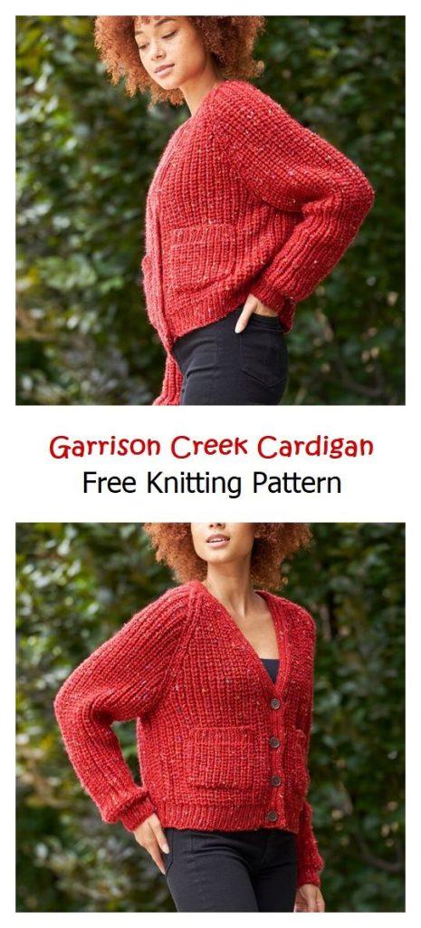 Garrison Creek Cardigan Free Knitting Pattern