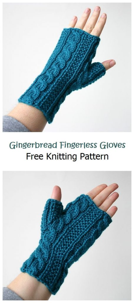 Gingerbread Fingerless Gloves Free Pattern