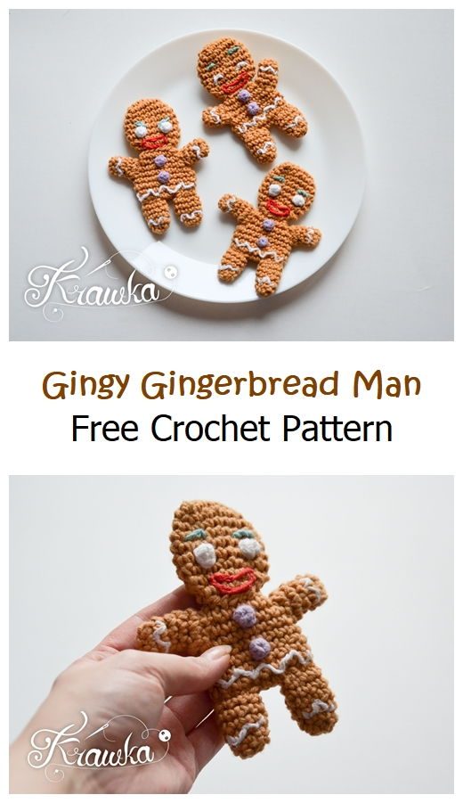 Gingy Gingerbread Man Free Pattern
