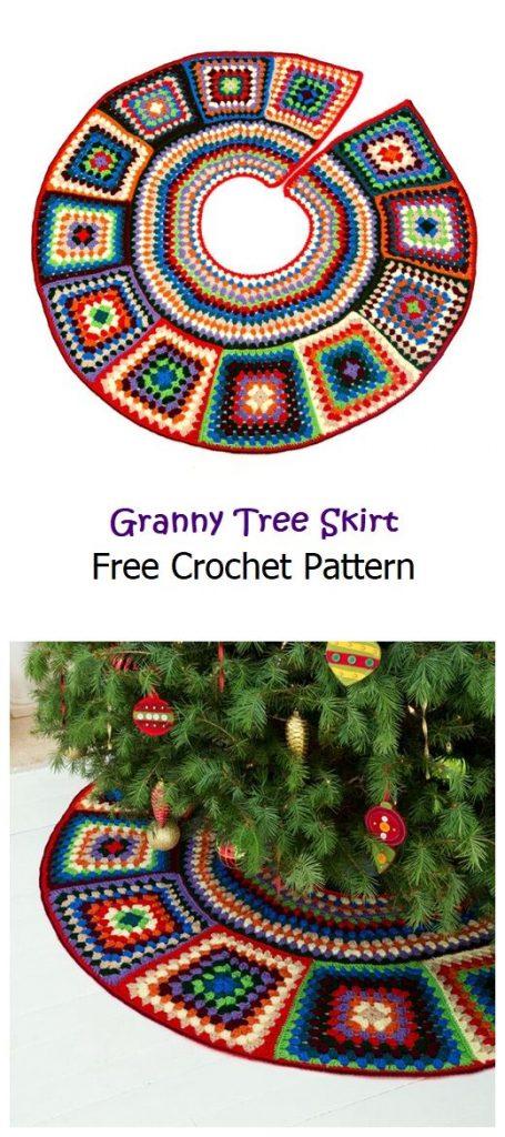 Granny Tree Skirt Free Crochet Pattern