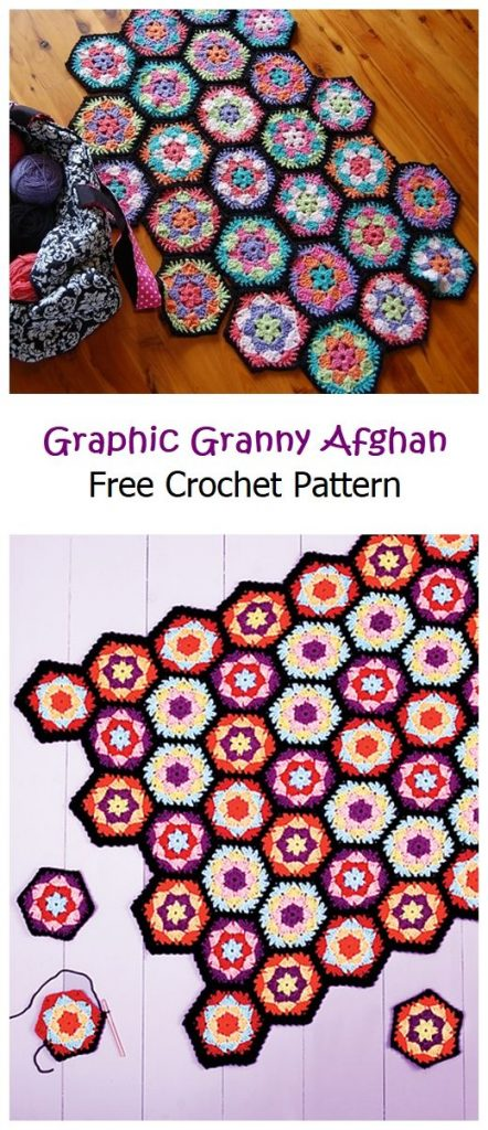 Graphic Granny Afghan Free Crochet Pattern