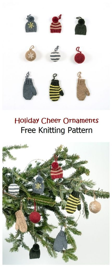 Holiday Cheer Ornaments Free Pattern