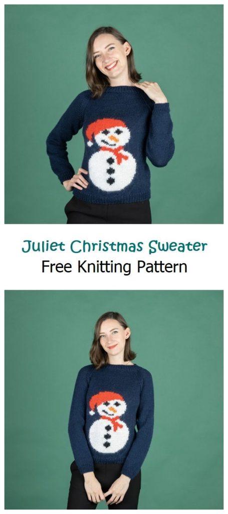 Juliet Christmas Sweater Free Knitting Pattern