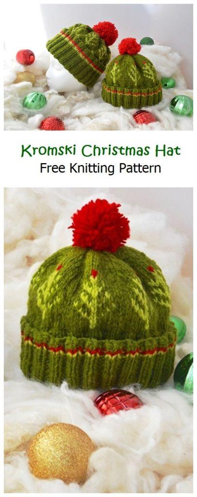 Kromski Christmas Hat Free Knitting Hat