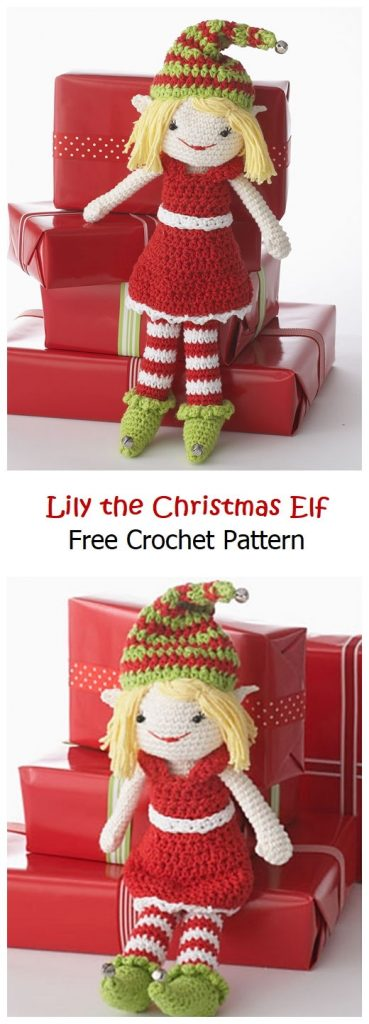 Lily the Christmas Elf Free Crochet Pattern