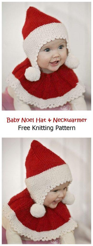 Baby Noel Hat & Neckwarmer Free Pattern