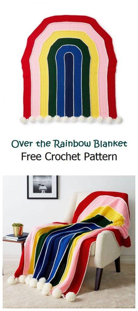 Over the Rainbow Blanket Free Crochet Pattern