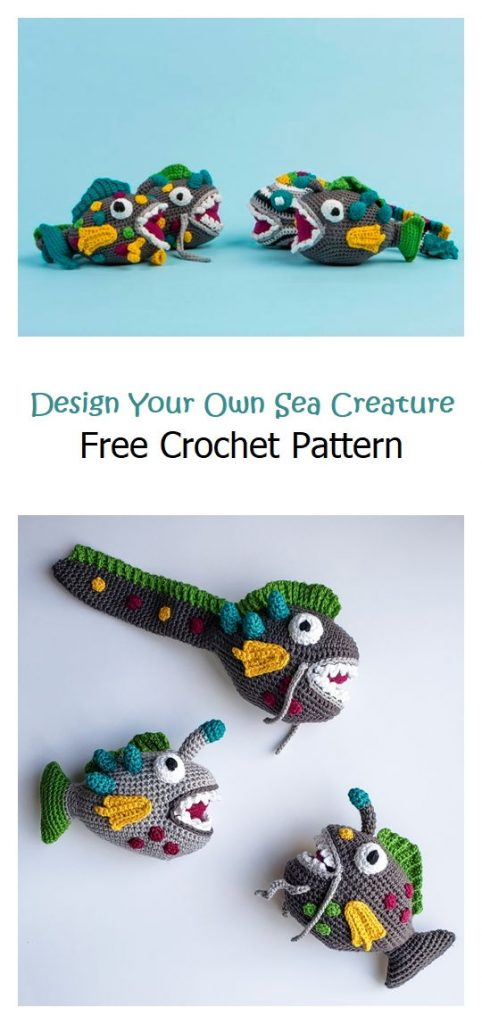 Design Your Own Sea Creature Free Pattern