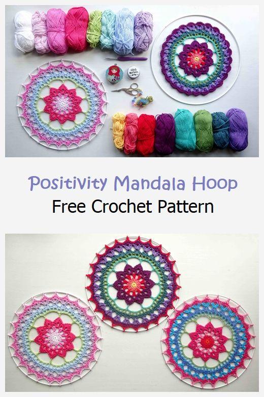 Positivity Mandala Hoop Free Pattern