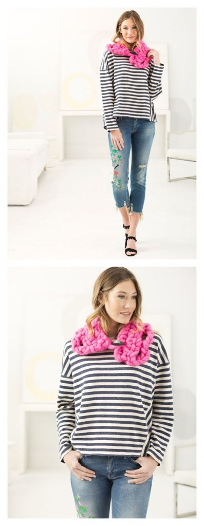 Quick Modern Cowl Free Crochet Pattern