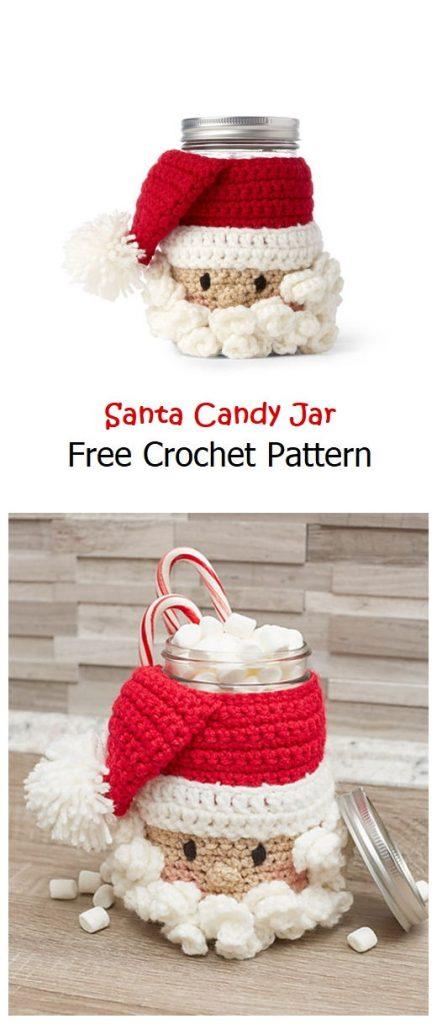 Santa Candy Jar Free Crochet Pattern