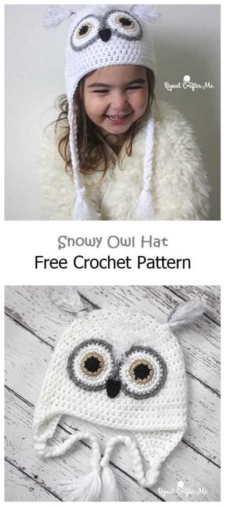Snowy Owl Hat Free Crochet Pattern