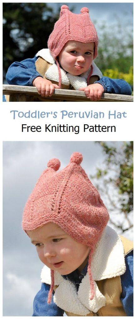 Toddler's Peruvian Hat Free Knitting Pattern