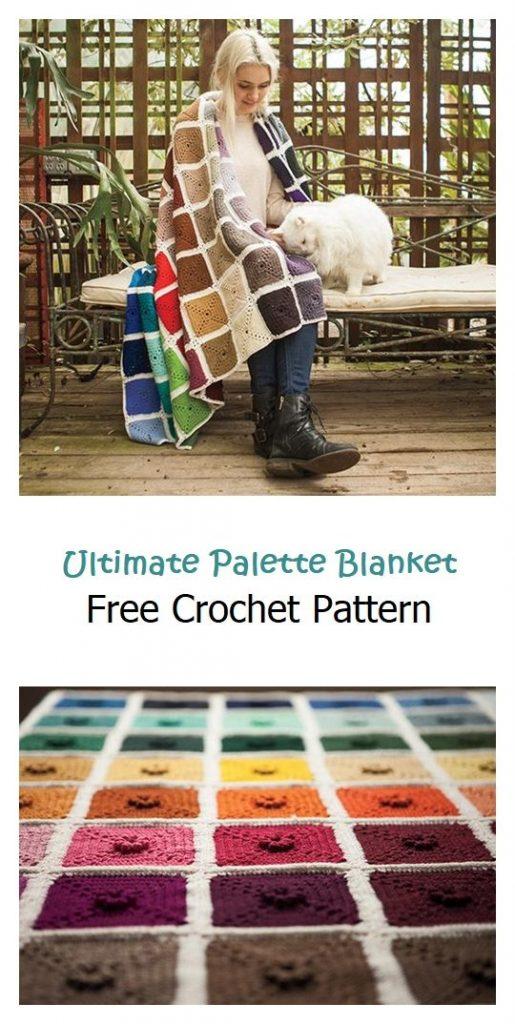 Ultimate Palette Blanket Free Crochet Pattern