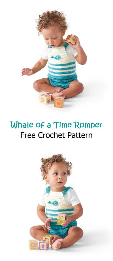Whale of a Time Romper Free Crochet Pattern