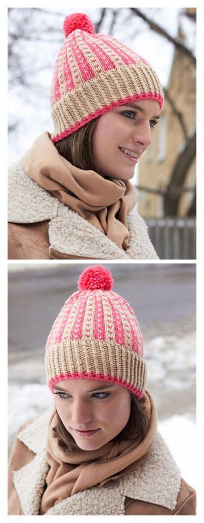 Winter Weekend Hat Free Knitting Pattern