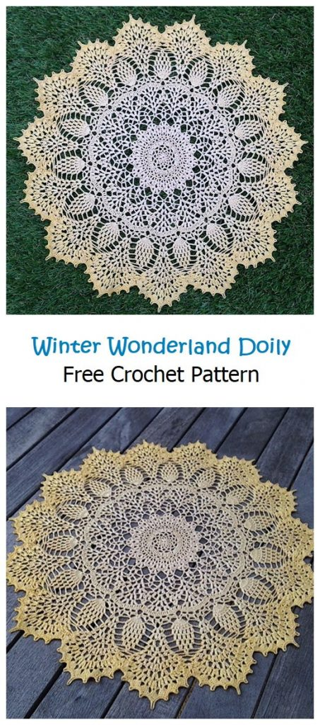 Winter Wonderland Doily Free Crochet Pattern