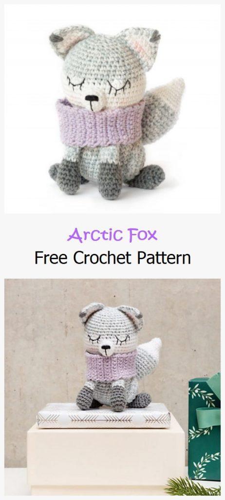 Arctic Fox Free Amigurumi Pattern