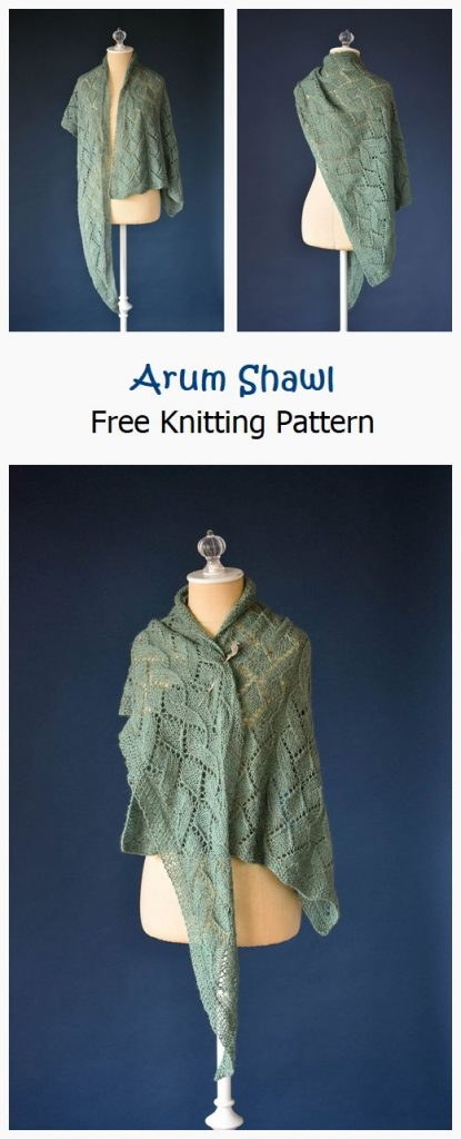 Arum Shawl Free Knitting Pattern