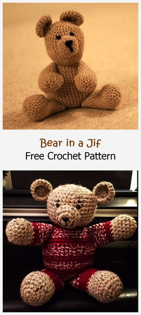 Bear in a Jif Free Crochet Pattern