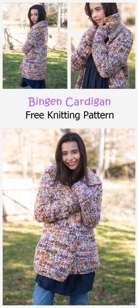 Bingen Cardigan Free Knitting Pattern