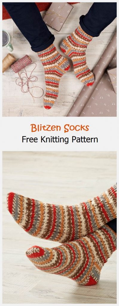 Blitzen Socks Free Knitting Pattern