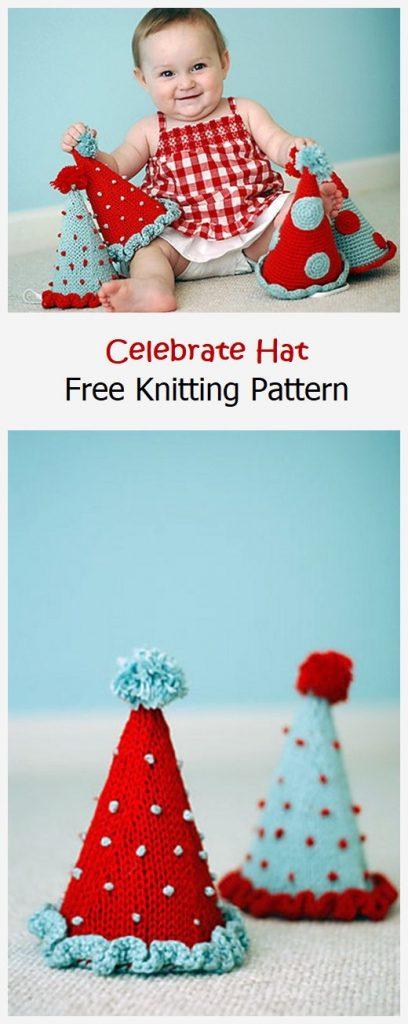 Celebrate Hat Free Knitting Pattern