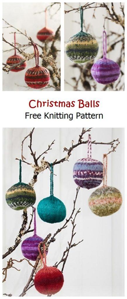 Christmas Balls Free Knitting Pattern