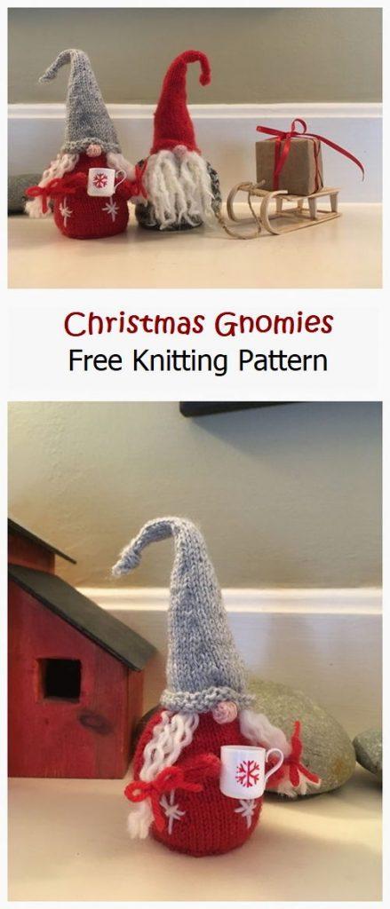 Christmas Gnomies Free Knitting Pattern