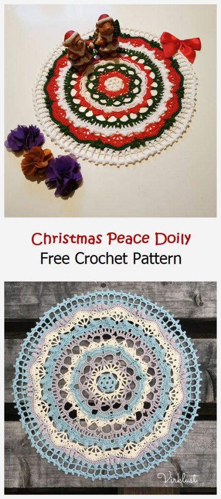 Christmas Peace Doily Free Crochet Pattern
