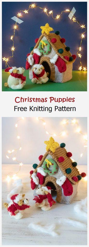 Christmas Puppies Free Knitting Pattern