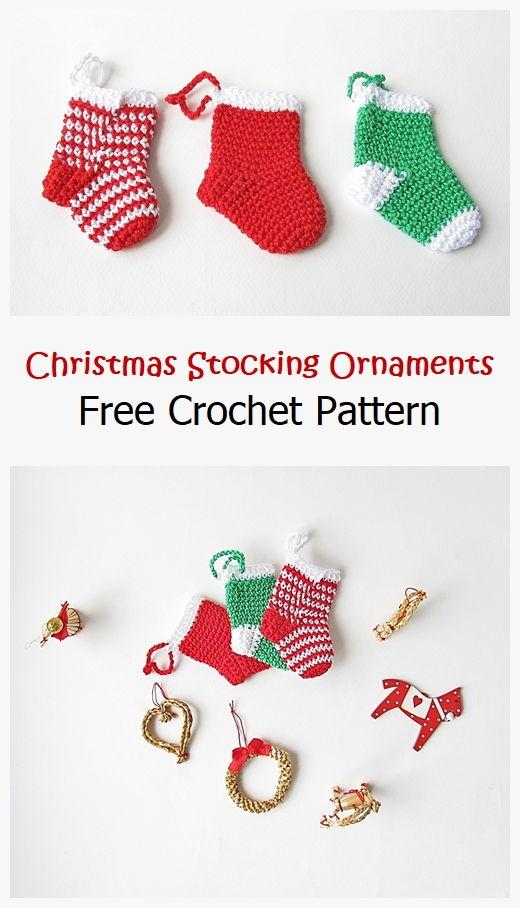 Christmas Stocking Ornament Free Pattern