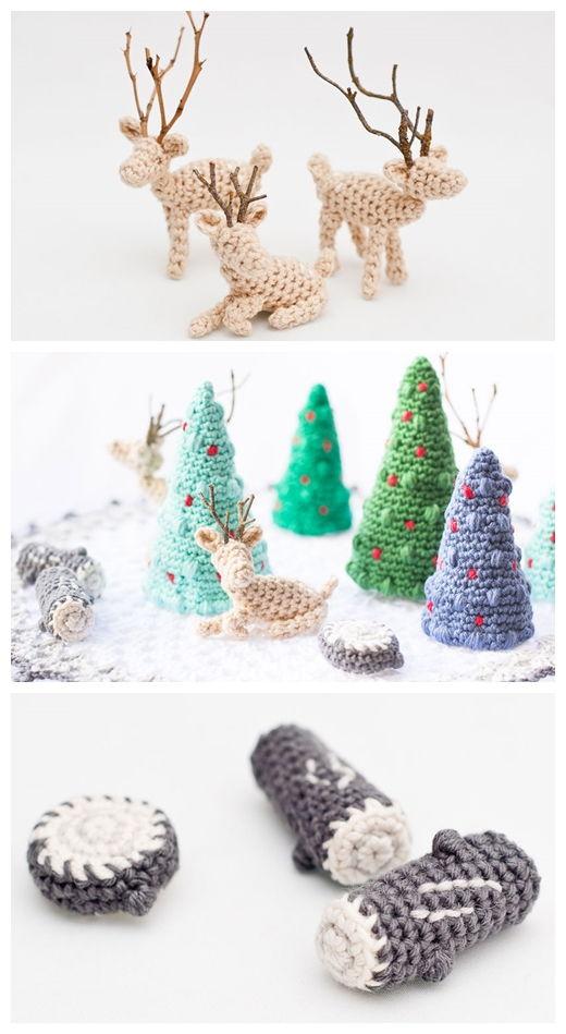 Christmas Micro World Free Crochet Pattern