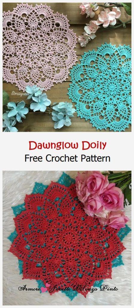 Dawnglow Doily Free Crochet Pattern