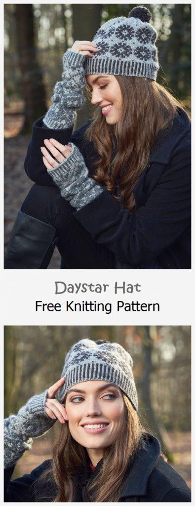 Daystar Hat Free Knitting Pattern