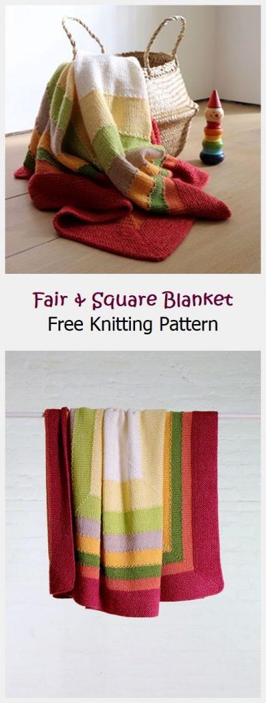 Fair & Square Blanket Free Knitting Pattern