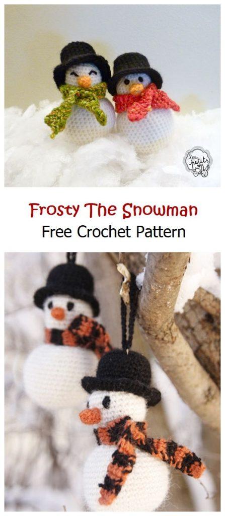 Frosty Snowman Free Crochet Pattern