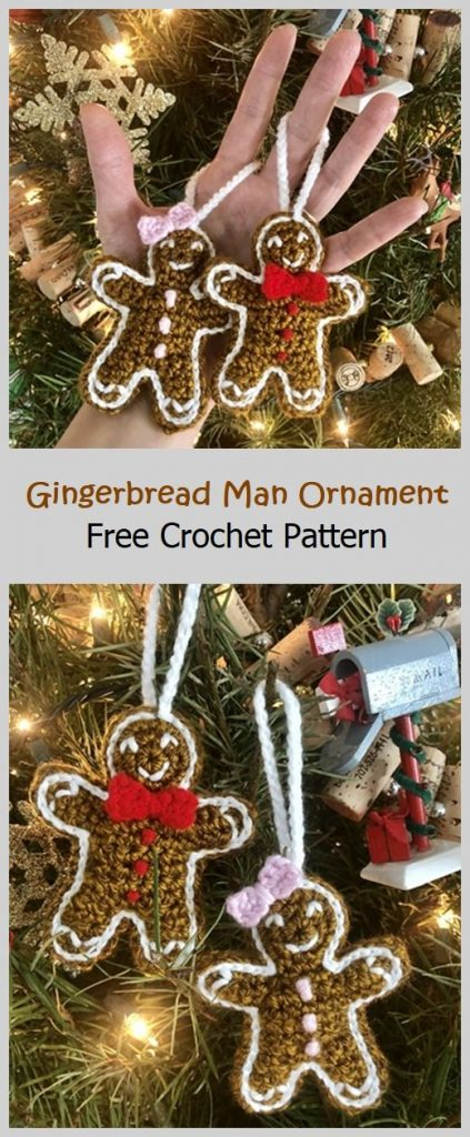 Gingerbread Man Ornament Free Pattern