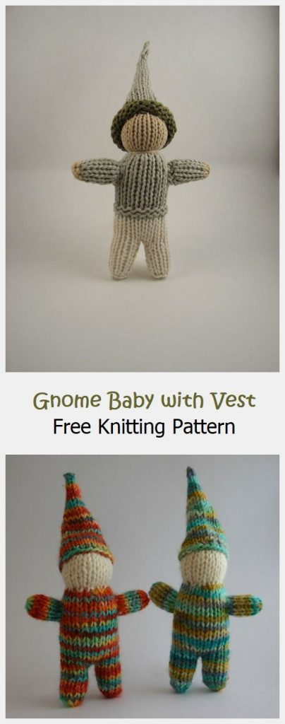 Gnome Baby with Vest Free Knitting Pattern