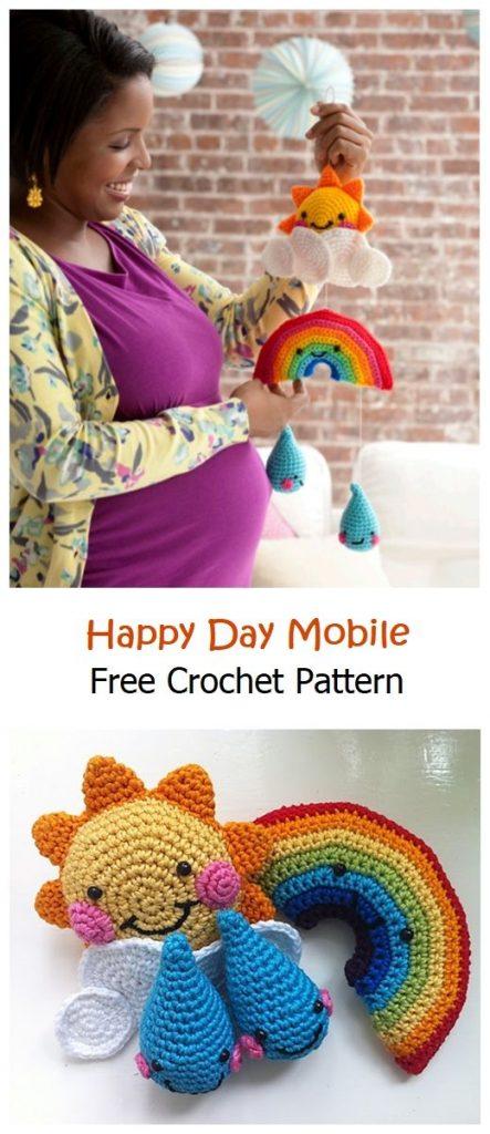 Happy Day Mobile Free Crochet Pattern