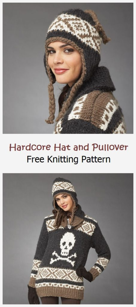 Hardcore Hat and Pullover Free Pattern