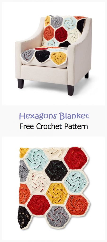 Hexagons Blanket Free Crochet Pattern