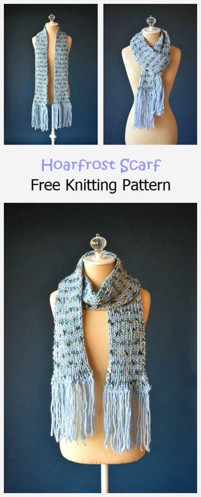 Hoarfrost Scarf Free Knitting Pattern