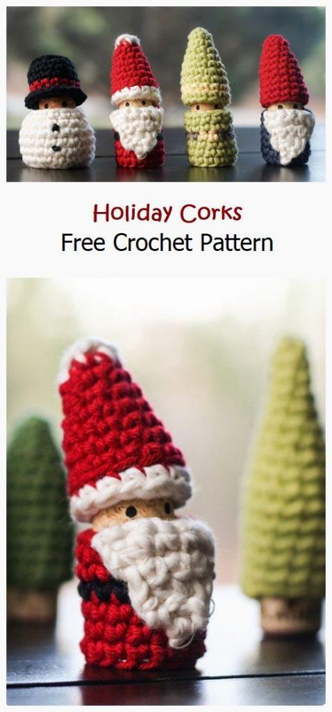 Holiday Corks Free Crochet Pattern