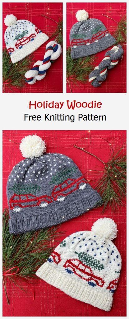 Holiday Woodie Free Knitting Pattern