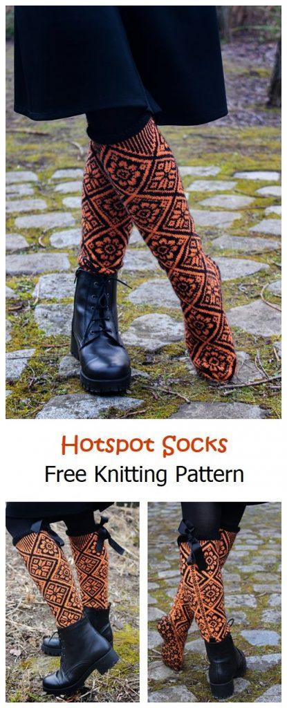 Hotspot Socks Free Knitting Pattern