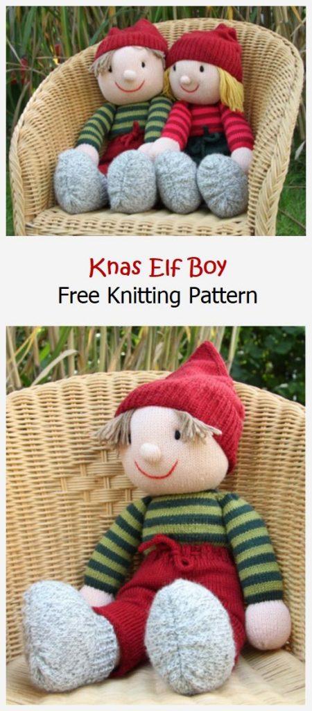 Knas Elf Boy Free Knitting Pattern
