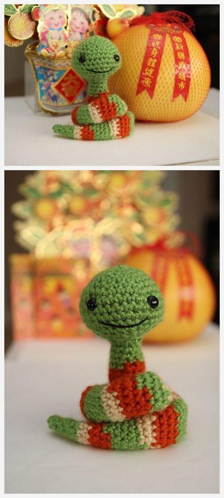 Little New Year Snake Free Crochet Pattern