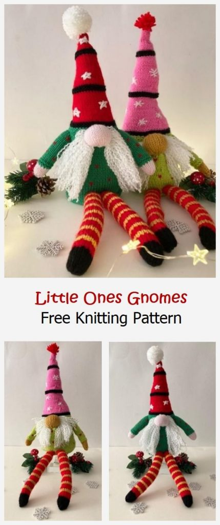 Little Ones Gnomes Free Knitting Pattern